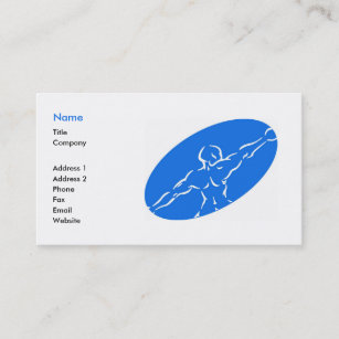 Exercise business cards zazzle fitness business card template blue fbccfo Images