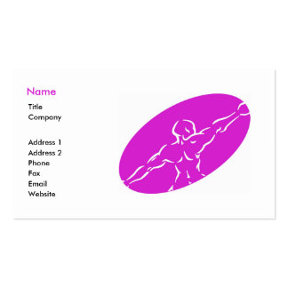 Fitness Business Card Template - magenta