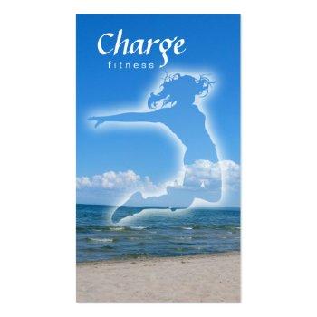 Fitness Business Card w/ beach & blue sky profilecard