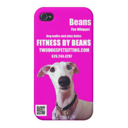 Case Savvy iPhone 4 Matte Finish Case with Whippet Phone Cases design