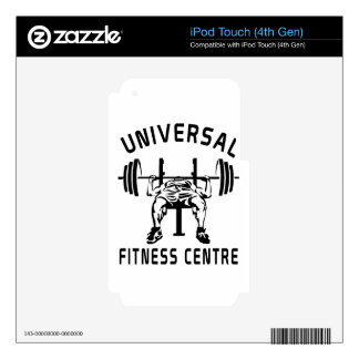 FITNESS CENTer iPod Touch 4G Decal