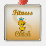 Fitness Chick Christmas Tree Ornament