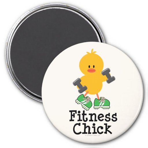 Fitness Chick Magnet