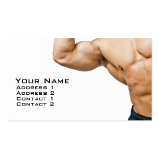 Fitness Coach Double-Sided Standard Business Cards (Pack Of 100)