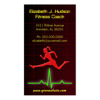 Fitness Coach / Personal Trainer Business Cards Business Card