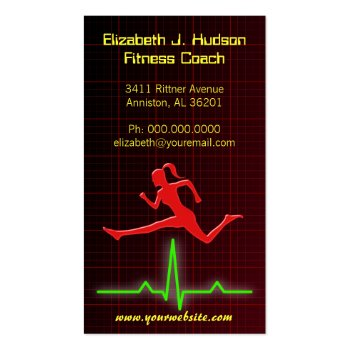 Fitness Coach / Personal Trainer Business Cards profilecard
