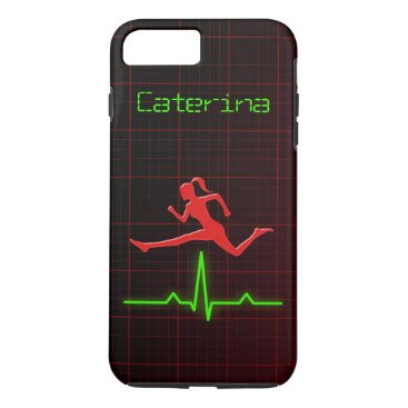 Fitness Coach Personal Trainer Jumping Woman iPhone 8 Plus/7 Plus Case