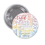 Fitness Concept for Weight Loss and Health 1 Inch Round Button