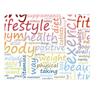 Fitness Concept for Weight Loss and Health Postcard