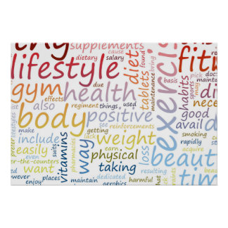 Fitness Concept for Weight Loss and Health Poster