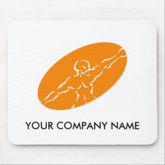 Fitness Customizable Mousepad - Orange