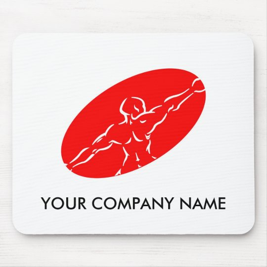 Fitness Customizable Mousepad - Red