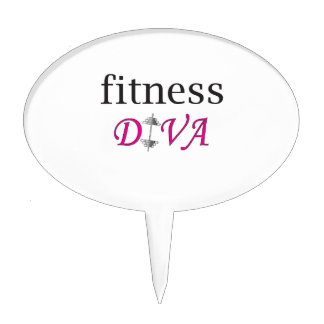 Fitness Diva Cake Toppers