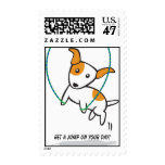 fitness dog - jumping rope, Get a jump on your ... Stamp