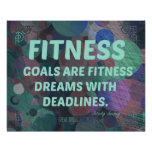 Fitness Dreams in Bubbles Poster