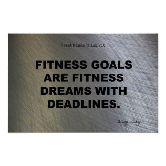 Fitness Dreams with Deadlines! Poster