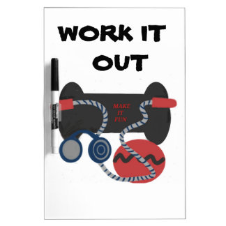 Fitness Equipment,  Meium. Dry Erase Board