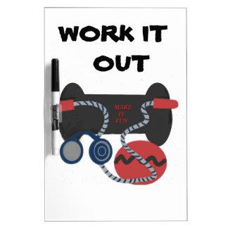 Fitness Equipment,  Meium. Dry Erase Board