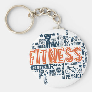 Fitness, exercise, health keychain