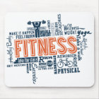 Fitness, exercise, health mouse pad