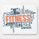 Fitness, exercise, health mousepad