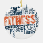 Fitness, exercise, health Double-Sided ceramic round christmas ornament