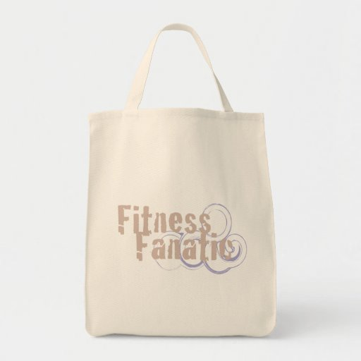 Fitness Fanatic Organic Grocery Tote Grocery Tote Bag