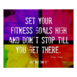Fitness Flower Fitness Goals Posters