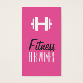 Fitness for Women Pink Personal Trainer Card