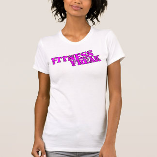 Fitness Freak Ladies Spaghetti Top (Fitted), White Tee Shirt
