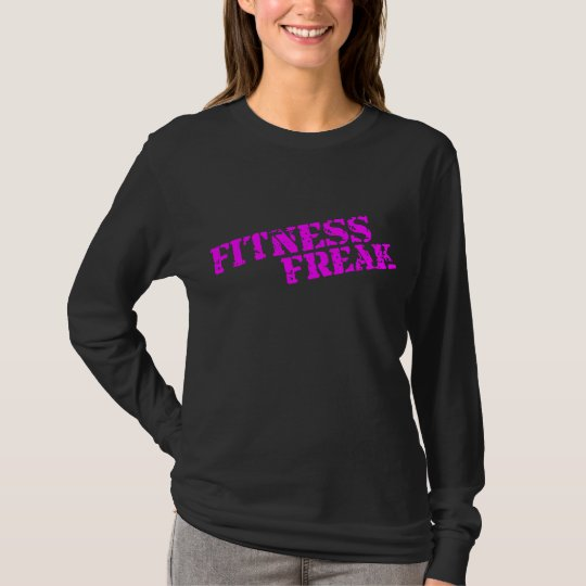Fitness Freak Pink Ladies Long Sleeve Shirt