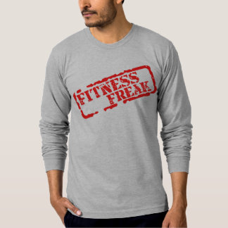 Fitness Freak Red Text American Apparel Shirt