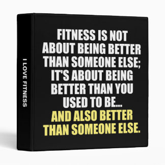 Fitness Funny Motivational Binder