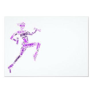 Fitness girl card