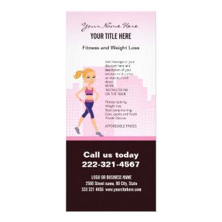 Fitness Girl Cartoon Customized Rack Card