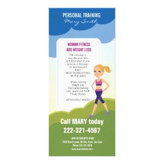 Fitness Girl Cartoon Rack Cards