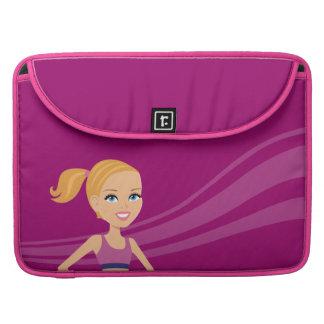 Fitness Girl Cartoon Sleeve For MacBook Pro