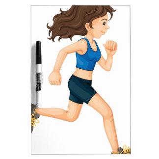 Fitness girl Dry-Erase whiteboards