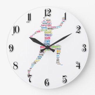 Fitness girl large clock