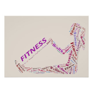 Fitness girl print