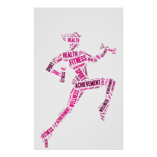 Fitness girl posters