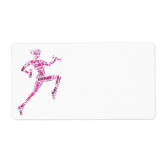 Fitness girl shipping label