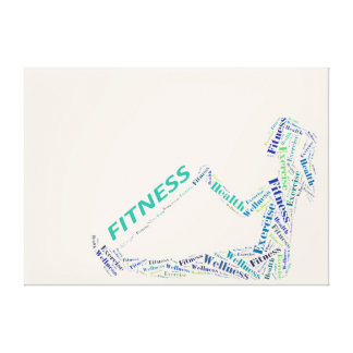 Fitness girl stretched canvas prints