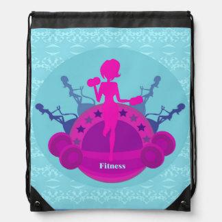 fitness girl training Drawstring Backpack