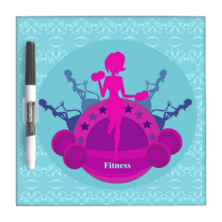 fitness girl training Dry Erase Board