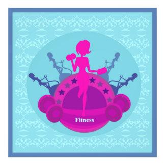 fitness girl training Photo Enlargement