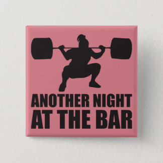 Fitness Girl Workout Gym Button
