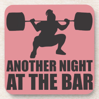 Fitness Girl Workout Gym Drink Coaster