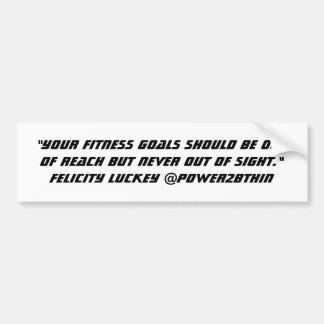 Fitness Goals Bumper Sticker