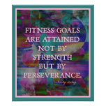 Fitness Goals in Color #007 Posters